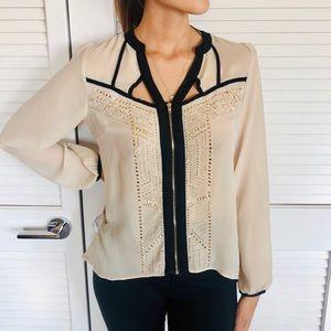 Venus Gold Embellished & Black Detailed blouse